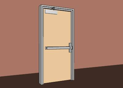 Door with panic bar