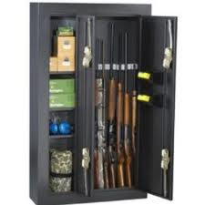 Double door gun cabinet