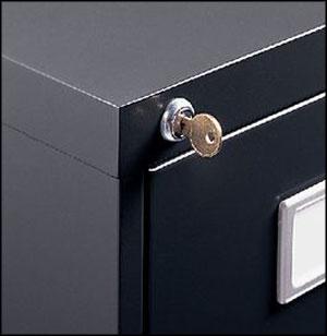 Filling cabinet lock