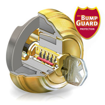Lock with Bump Guard Protection