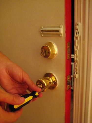 Locks in door